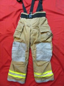 Mfg 2011 Globe Gxtreme 36 X 32 Firefighter Turnout Bunker Pants Suspenders