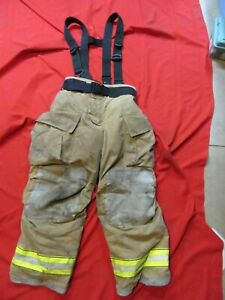Mfg 2012 Globe Gxtreme 36 X 30 Firefighter Turnout Bunker Pants Suspenders