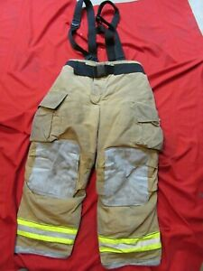 Mfg 2012 Globe Gxtreme 40 X 30 Firefighter Turnout Bunker Pants Suspenders