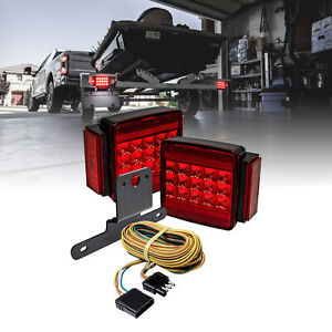 Dot Submersible Led Tail Brake Trailer Light Kit Harness For All Size Trailers