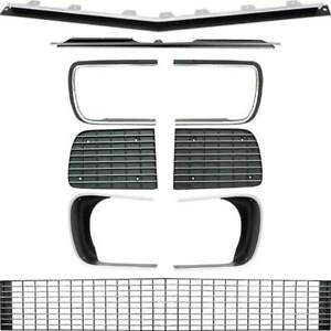 Oer Rs Grill Kit With Silver Trim And Headlamp Bezels 1967 1968 Chevy Camaro