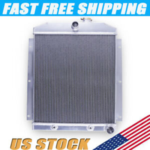 3 Row Aluminum Radiator For 1947 1954 48 49 50 Chevy 3100 3600 3800 Truck Pickup