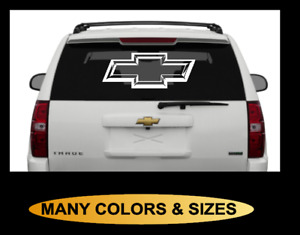 Chevy Bowtie 3d Chisel Theme Vinyl Decal Sticker Graphics Window Back White Red
