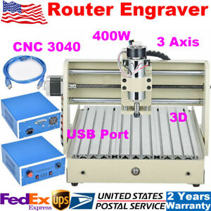 Usb 400w 3 Axis Cnc 3040 Router Engraver 3d Wood Pcb Milling Engraving Machine