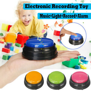 Squeeze Led Toy Speak Talking Sound Record Answer Buzzer Alarm Button For Child