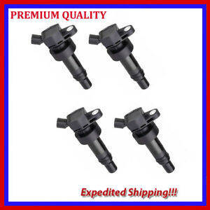 4pc Khy1179 Ignition Coil For 2012 2013 2014 Hyundai Accent 1 6l L4