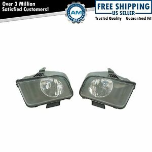 Headlights Headlamps Lh Left Rh Right Pair Set For 05 09 Ford Mustang New
