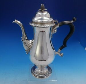 Gadroon By Howard And Co Sterling Silver Tea Pot Ebony Pineapple Finial 4013