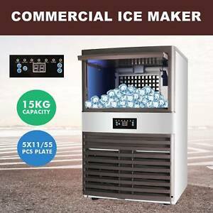 Commercial Ice Maker Automatic Stainless Steel 160lbs 24h Freestanding Portable