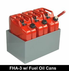 Fuel Oil Cans And All Steel Holder 21 W X 14 D By American Van Equipment