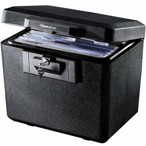 Sentry Safe Fireproof File Document Box Cash Storage Chest Key Locking Security