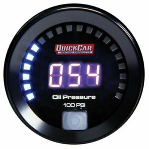 Quickcar Racing Products 67 003 Digital Oil Pressure Gauge 0 100 Psi 2 1 16 In