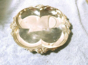 Silver Plate Tray Clover Shape