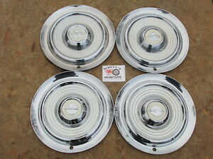 1954 1955 Oldsmobile 88 Super 88 98 Holiday 15 Wheel Covers Hubcaps Set 4
