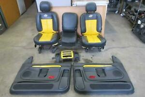 2004 2005 Dodge 1500 Front Rear Seat Set Bucket Leather Rumble Bee Oem