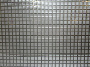 3 8 Square On 1 2 Straight Centers 16 Ga Stainless Steel Perforated 12 X 24