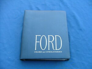 1963 Ford Color And Trim Selector Dealer Album Nice Galaxie Fairlane