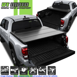 Hard Tri fold Tonneau Cover For 2016 2018 Toyota Tacoma 5ft 60 Inch Short Bed