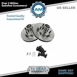 Front Brake Pads Rotors Kit For Chevy Gmc Buick Pontiac Oldsmobile