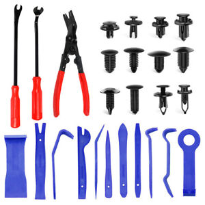 Auto Car Trim Removal Tool Pry Plier Door Panel Bumper Clip Fastener Remover Kit