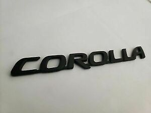 Black Corolla Nameplate Fits Toyota Trunk Emblem Name Badge Decal Letters Name