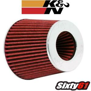 K n Cone Air Filter 3 To 4 Universal Car Truck Suv Intake Chrome Round Tapered