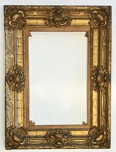 Antique Gilded Gesso Wood Antique Ornate Victorian Picture Frame