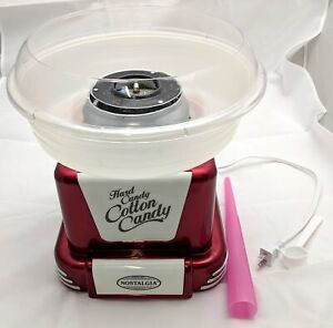 Nostalgia Retro Hard Sugar Free Cotton Candy Maker Red Pcm805retrored