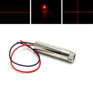 650nm 10mw Dot line cross Focusable Red Laser Diode Module 3 5v 12x35mm