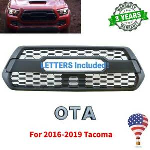 Black Front Hood Grill Bumper Grille For Tacoma 2016 2019 2017 2018 With Letter