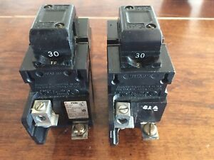 30a 2 Pole Pushmatic Breaker Set Of 2 Circuit Breaker s P230 tested