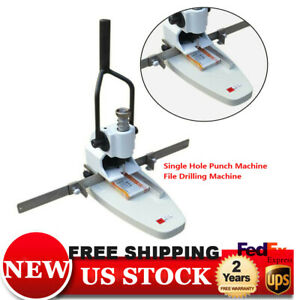 Single Hole Punch Machine File Drilling Caver Tags invoice Paper Drills
