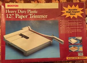 Boston 26212 Paper Cutter 12 Trimmer Heavy Duty Made Usa Works Great Free Ship