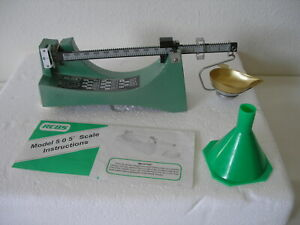 RCBS Model 5-0-5 Powder  Reloading Scale w Funnel - Ohaus Corp. U.S.A.