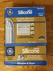 Ge Silicone 2 Window And Door Caulk Sealant 10 1 Oz Clear 12 Pack Case