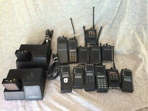 Lot Of Motorola Saber Gp Mtx Two way Radios Plus 2 Chargers