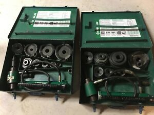 Greenlee 7310 Hydraulic Knockout Punch Set