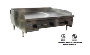 New 36 Snack Size Griddle Flat Top Plancha Grill Stratus Ssmg 36 3267 Usa Nsf