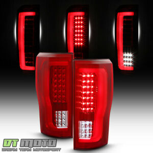 Red 2017 2019 Ford F250 F350 Superduty Led Tube Tail Lights Signal Backup Lamps