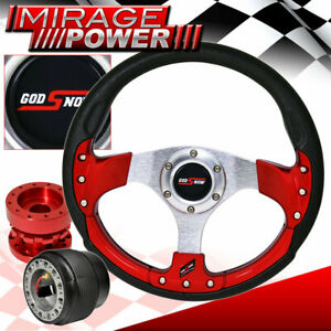 Red Hub Extender For 88 91 Crx Godsnow Pvc Red Fusion Style Steering Wheel