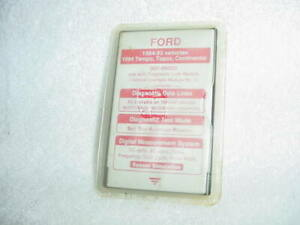Ford Rotunda Special Tools 1994 Continental Used 077 00502 Ngs Tester Red Card