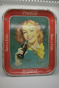Vintage 1950's Coca-Cola serving tray Girl With Coke Bottle