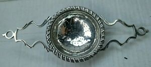 Antique Victorian Sterling Silver Ornate Tea Strainer Over The Cup 7 5