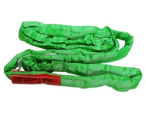 Usa Domestic 4 Green Endless Round Lifting Sling Crane Rigging Recovery