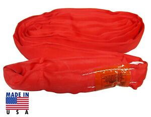 Usa Domestic 20 Red Endless Round Lifting Sling Crane Rigging Recovery