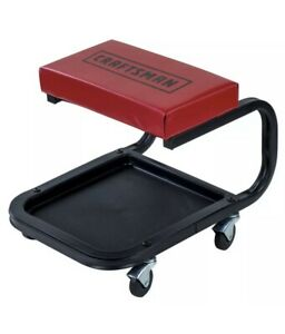 Craftsman High Rise Mechanics Creeper Seat Tool Tray Garage Roll Work Stool Shop