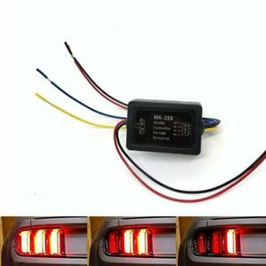 Pair 3 step Sequential Flow Semi Dynamic Chase Flash Tail Light Car Module Boxes