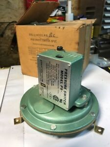 New Pyronics Ps bc Pneumatic Pressure Switch 1 psi 120 220v Air gas Nc Fast Ship