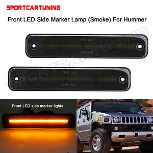 Smoked Front Led Side Fender Marker Light Lamp For Hummer H2 2003 2009 25952319