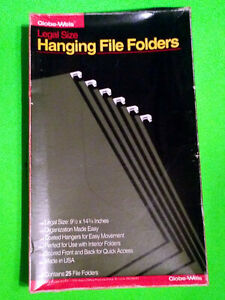 Globe weis Hanging File Folders Legal Size 25 Pack